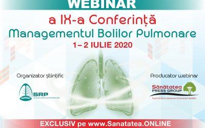 WEBINAR: a IX-a Conferință Managementul Bolilor Pulmonare