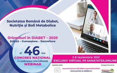 02-08.09.2020 | WEBINAR al 46-lea Congres Național al Societății Române de Diabet, Nutriție și Boli Metabolice