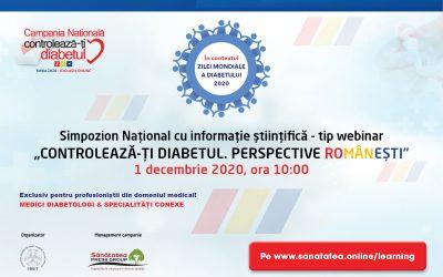 01.12.2020 | Controlează-ți Diabetul. Perspective Românești