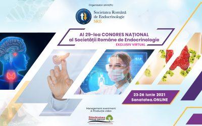 23-26.06.2021 | WEBINAR al 29-lea Congres Național al Societății Române de Endocrinologie