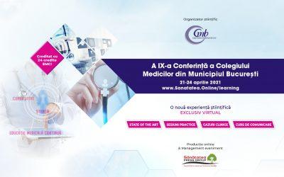 21-24.04.2021 | A IX-a Conferință a Colegiului Medicilor din Municipiul București